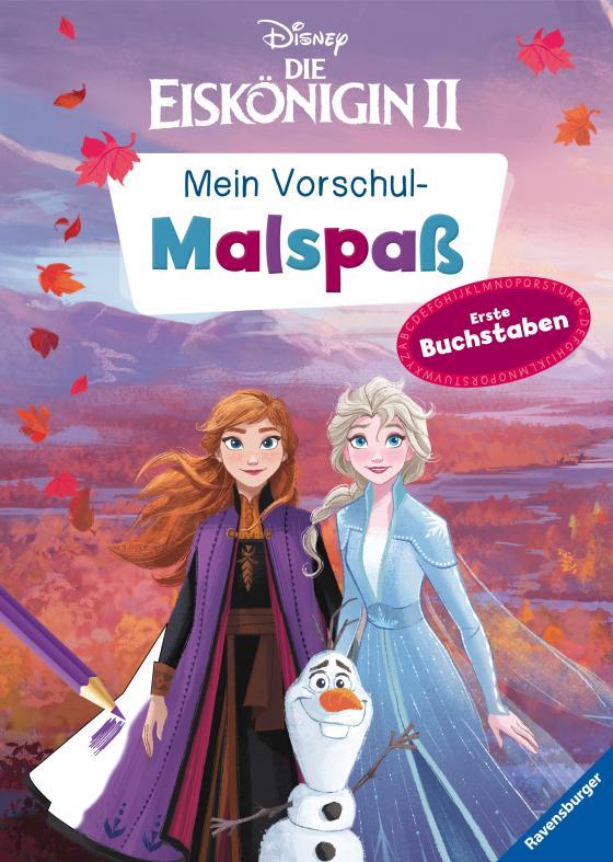 Cover-Bild Disney Die Eiskönigin 2: Mein Vorschulmalspaß. Erste Buchstaben
