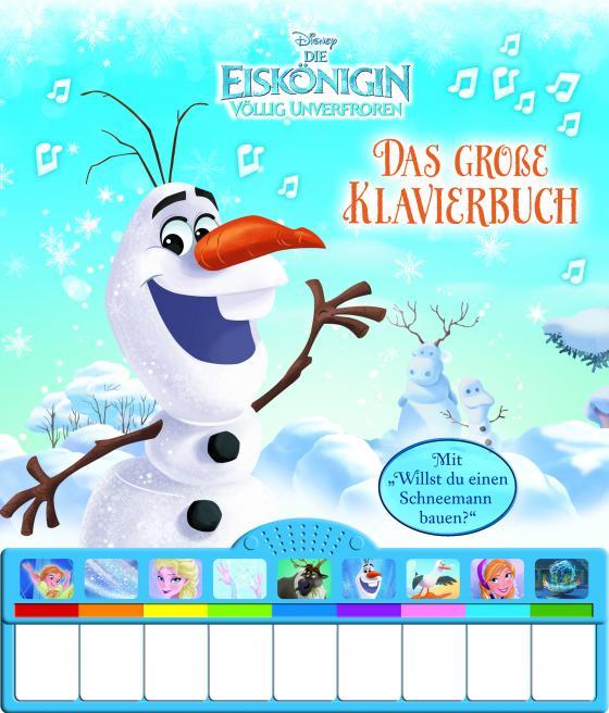 Cover-Bild Disney - Die Eiskönigin, das große Klavierbuch - Pappbilderbuch mit Klaviertastatur und neun zauberhaften Melodien
