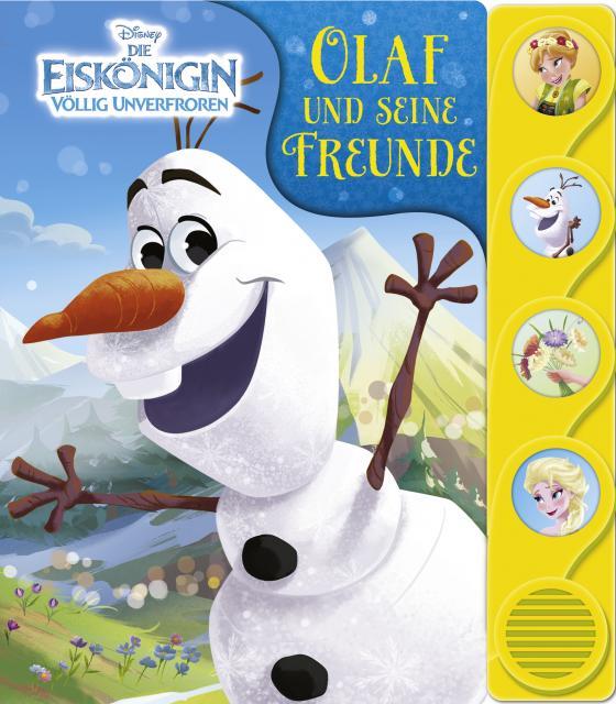 Cover-Bild Disney Die Eiskönigin - Olaf und seine Freunde - Frozen - Silhouetten-Soundbuch mit 4 lustigen Geräuschen für Kinder ab 3 Jahren