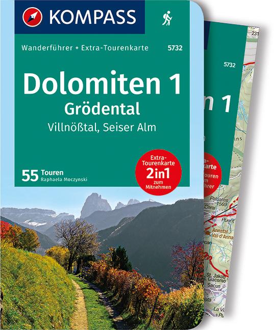 Cover-Bild Dolomiten 1, Grödental, Villnößtal, Seiser Alm