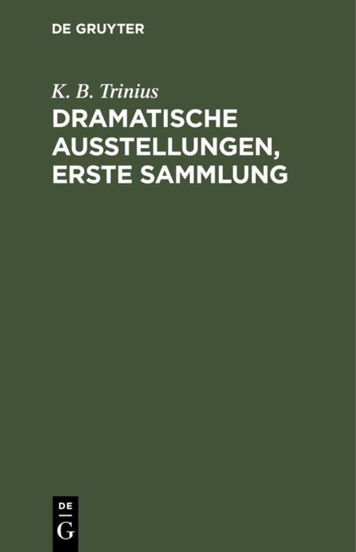 Cover-Bild Dramatische Ausstellungen, erste Sammlung