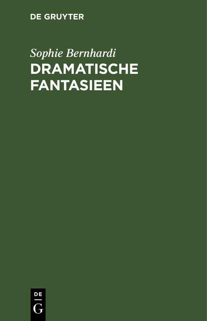Cover-Bild Dramatische Fantasieen