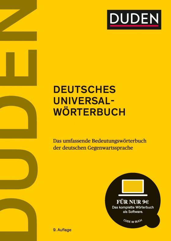 Cover-Bild Duden – Deutsches Universalwörterbuch