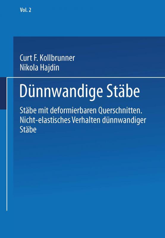 Cover-Bild Dünnwandige Stäbe