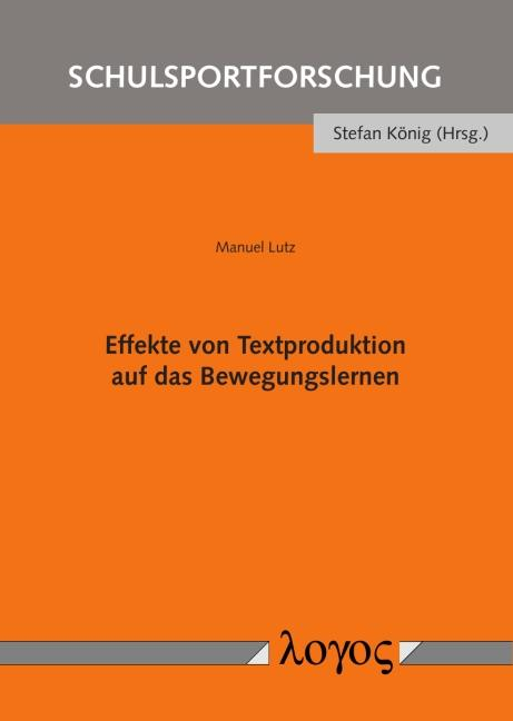 Cover-Bild Effekte von Textproduktion auf das Bewegungslernen