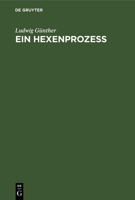 Cover-Bild Ein Hexenprozeß