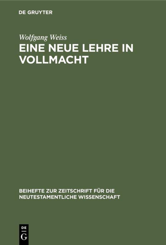 Cover-Bild Eine neue Lehre in Vollmacht
