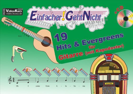 Cover-Bild Einfacher!-Geht-Nicht: 19 Hits & Evergreens – für Gitarre (mit Kapodaster) mit CD