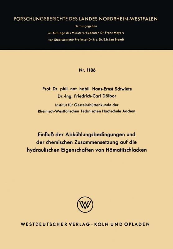 Cover-Bild Einfluß der Abkühlungsbedingungen und der chemischen Zusammensetzung auf die hydraulischen Eigenschaften von Hämatitschlacken