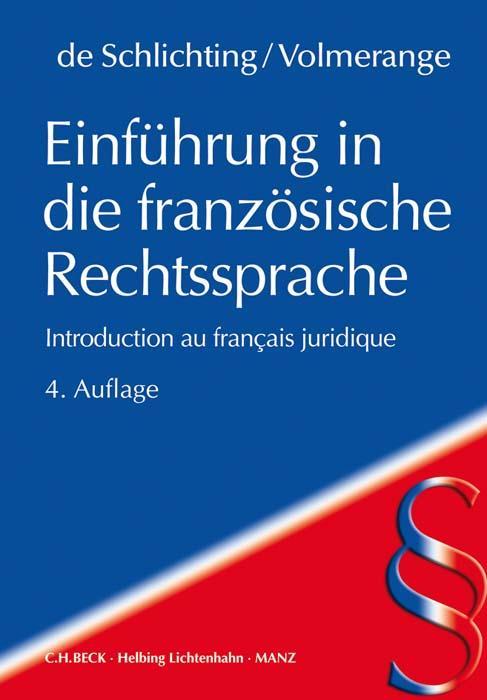 Cover-Bild Einführung in die französische Rechtssprache