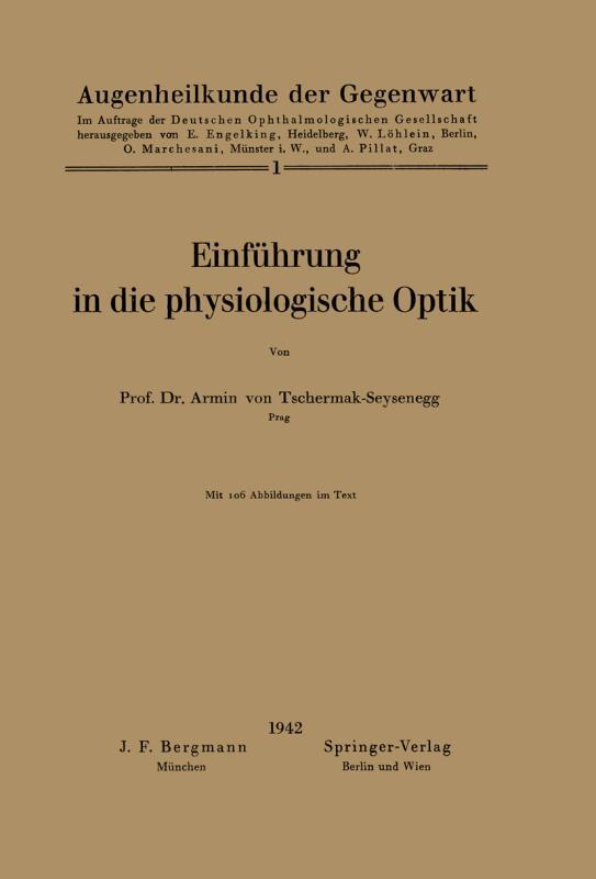 Cover-Bild Einführung in die physiologische Optik