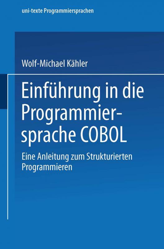 Cover-Bild Einführung in die Programmiersprache COBOL