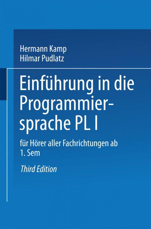 Cover-Bild Einführung in die Programmiersprache PL/I