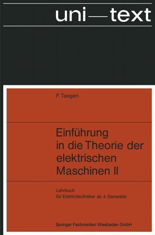 Cover-Bild Einführung in die Theorie der elektrischen Maschinen II