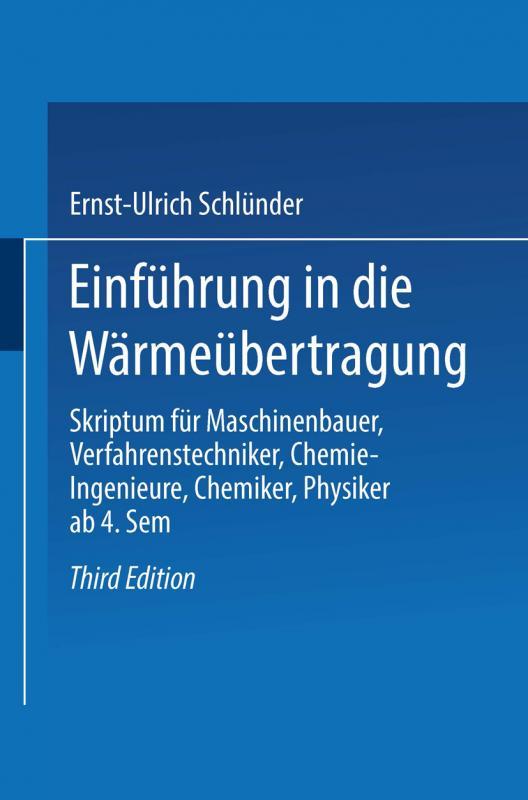 Cover-Bild Einführung in die Wärmeübertragung