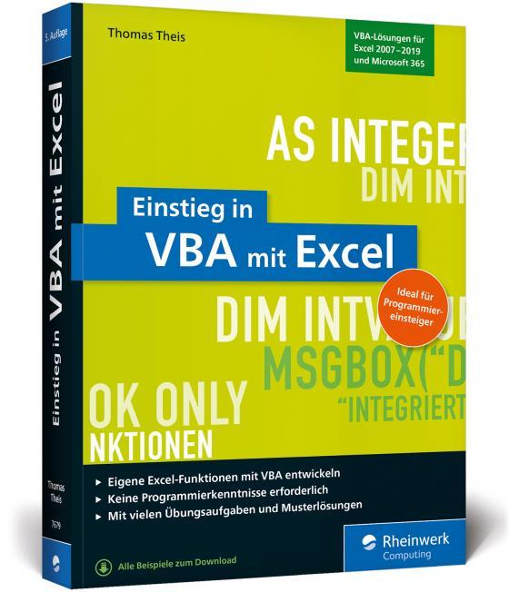 Cover-Bild Einstieg in VBA mit Excel
