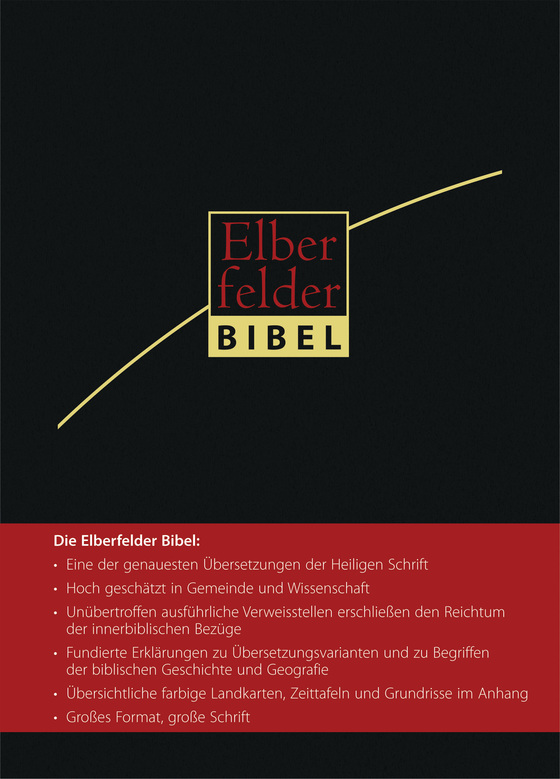 Cover-Bild Elberfelder Bibel - Großausgabe, ital. Kunstleder