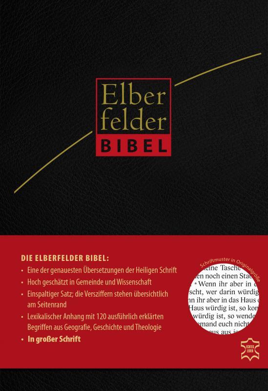 Cover-Bild Elberfelder Bibel in großer Schrift, Leder