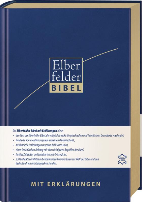 Cover-Bild Elberfelder Bibel mit Erklärungen - Leder, Goldschnitt