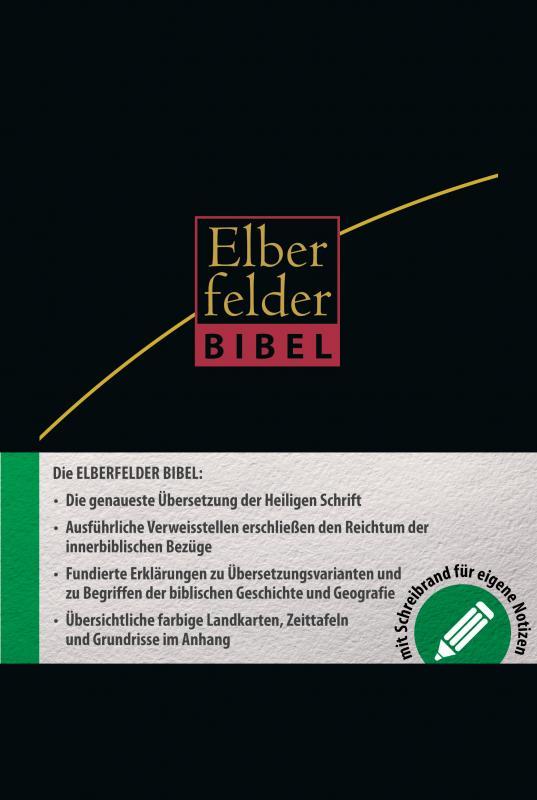 Cover-Bild Elberfelder Bibel - mit Schreibrand und Griffregister, Leder