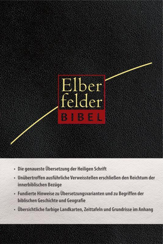 Cover-Bild Elberfelder Bibel- Standardausgabe, ital. Kunstleder, schwarz, mit Reißverschluß