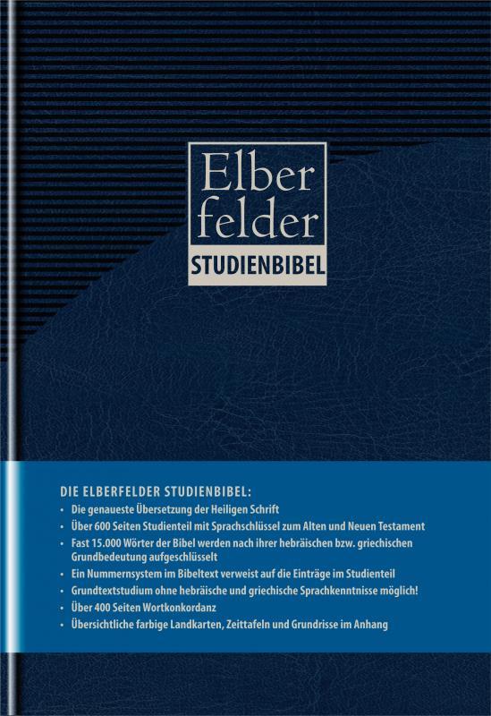 Cover-Bild Elberfelder Studienbibel, Kunstleder, mit Sprachschlüssel und Handkonkordanz