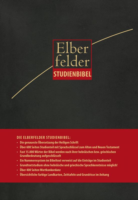 Cover-Bild Elberfelder Studienbibel, Leder anthrazit