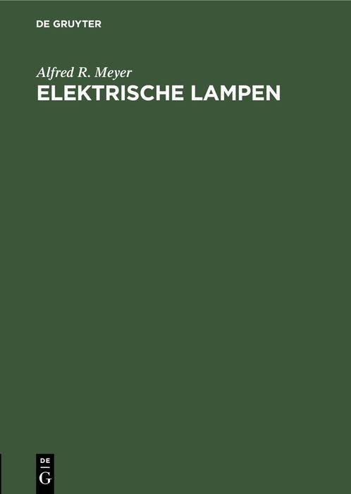 Cover-Bild Elektrische Lampen