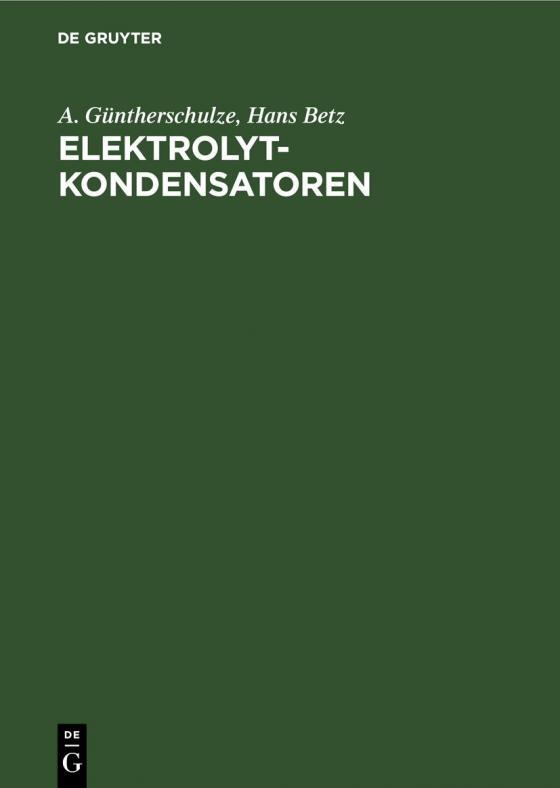 Cover-Bild Elektrolytkondensatoren