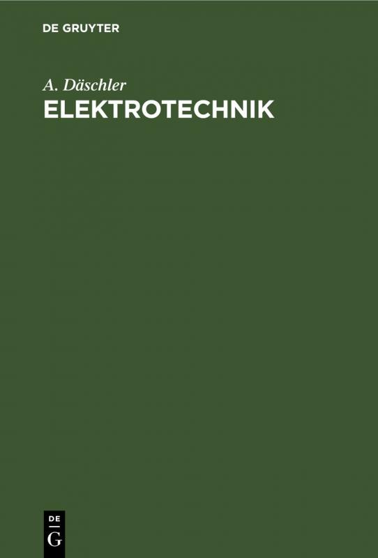 Cover-Bild Elektrotechnik