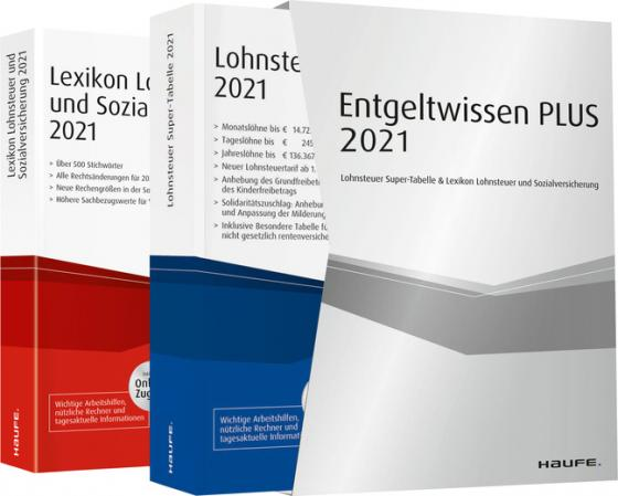 Cover-Bild Entgeltwissen PLUS 2021 - Lohnsteuer Super-Tabelle & Lexikon Lohnsteuer und Sozialversicherung