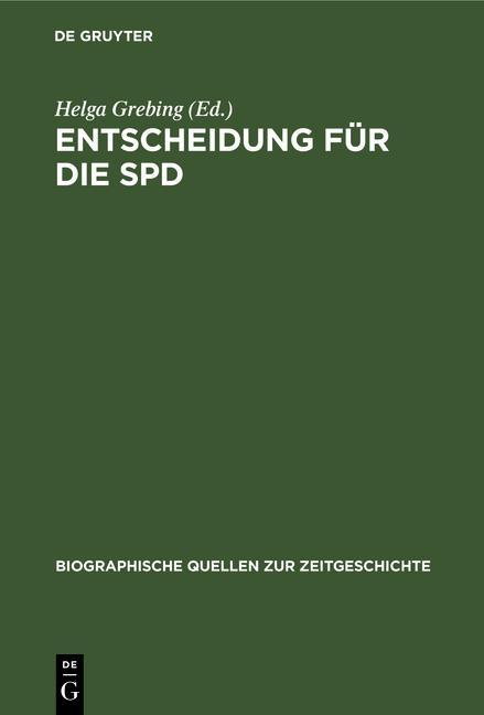 Cover-Bild Entscheidung für die SPD