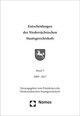 Cover-Bild Entscheidungen des Niedersächsischen Staatsgerichtshofs