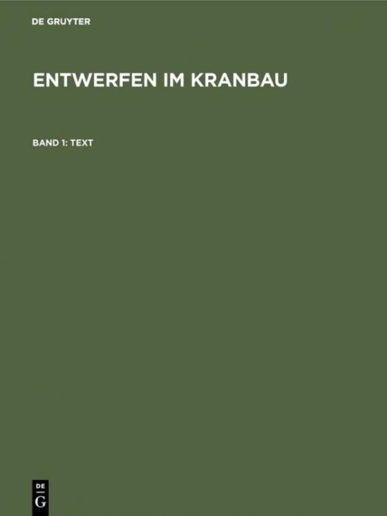 Cover-Bild Entwerfen im Kranbau / Text