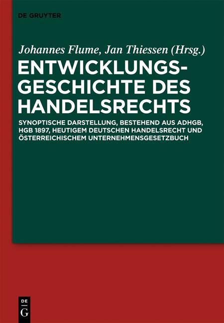 Cover-Bild Entwicklungsgeschichte des Handelsrechts