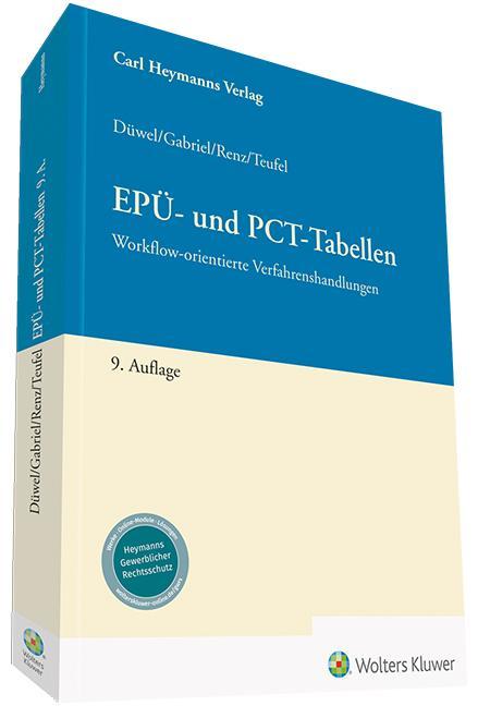 Cover-Bild EPÜ - Tabellen