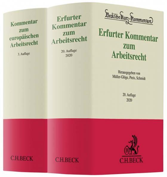 Cover-Bild Erfurter Kommentar zum Arbeitsrecht und Kommentar zum europäischen Arbeitsrecht