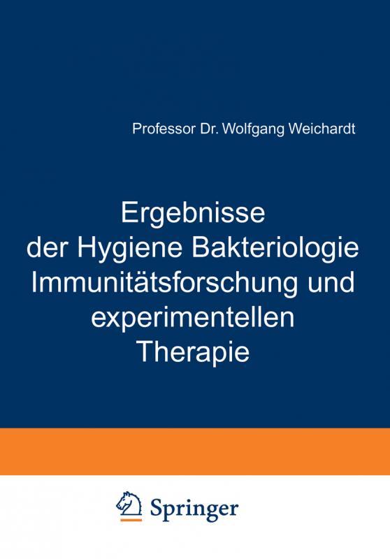 Cover-Bild Ergebnisse der Hygiene Bakteriologie Immunitätsforschung und experimentellen Therapie