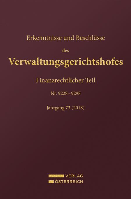 Cover-Bild Erkenntnisse und Beschlüsse des Verwaltungsgerichtshofes