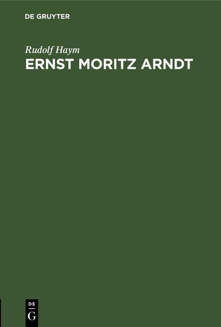 Cover-Bild Ernst Moritz Arndt