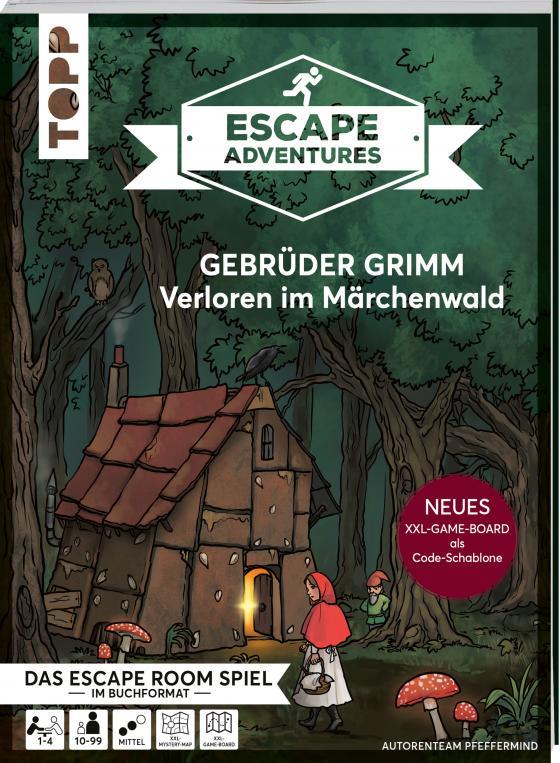 Cover-Bild Escape Adventures – Gebrüder Grimm: Verloren im Märchenwald (NEUE Codeschablone für mehr Rätselspaß)