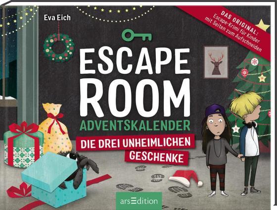 Cover-Bild Escape Room. Die drei unheimlichen Geschenke. Ein Gamebuch-Adventskalender für Kinder