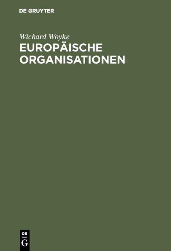 Cover-Bild Europäische Organisationen