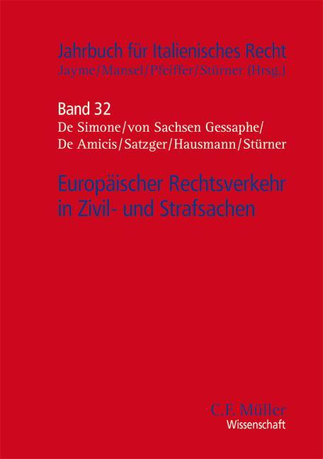 Cover-Bild Europäischer Rechtsverkehr in Zivil- und Strafsachen