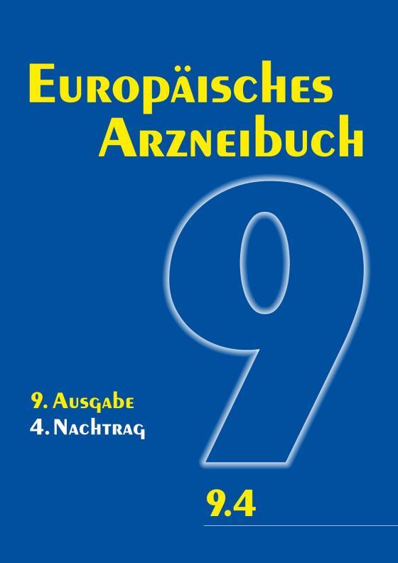Cover-Bild Europäisches Arzneibuch 9. Ausgabe, 4. Nachtrag