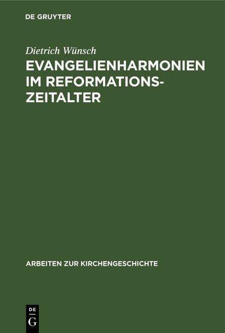 Cover-Bild Evangelienharmonien im Reformationszeitalter