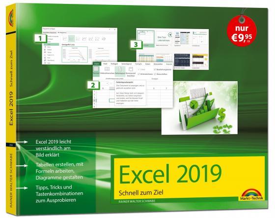 Cover-Bild Excel 2019 Schnell zum Ziel. Alles auf einen Blick - Excel 2019 optimal nuten. Komplett in Farbe. Für Einstiger und Umsteiger im praktischen Querformat