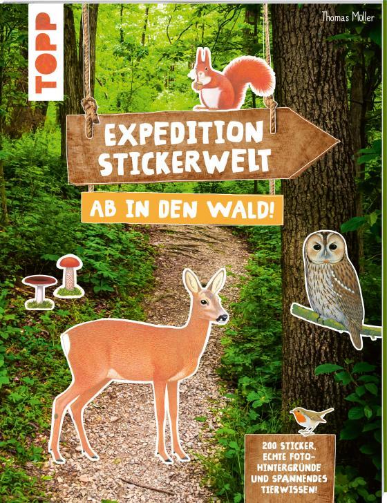 Cover-Bild Expedition Stickerwelt - Ab in den Wald!