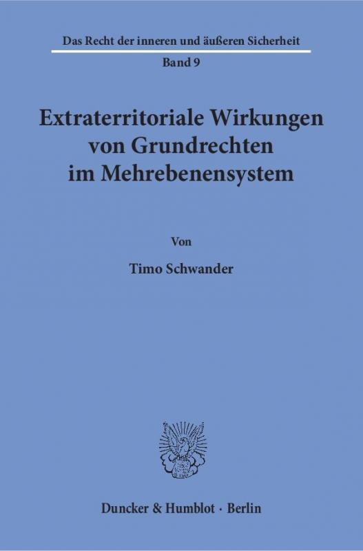 Cover-Bild Extraterritoriale Wirkungen von Grundrechten im Mehrebenensystem.