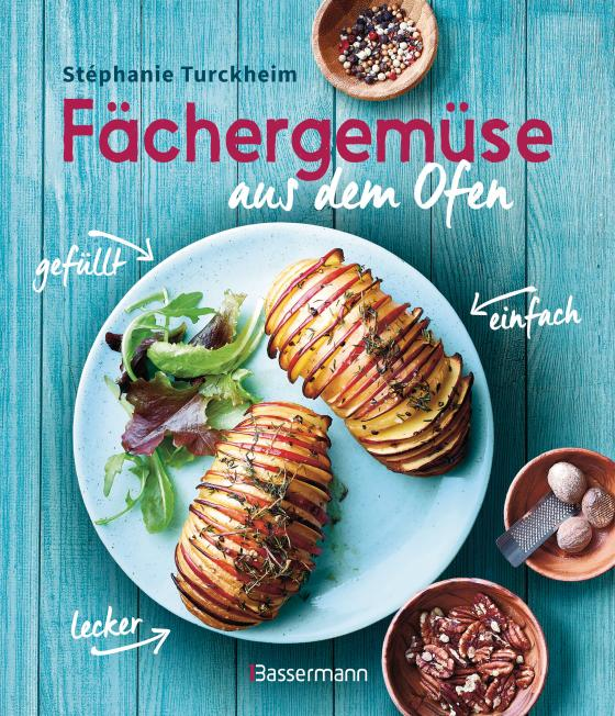 Cover-Bild Fächergemüse (Hasselbackgemüse) aus dem Ofen – einfach, lecker, gefüllt. Rezepte, die selbst harte Gemüsemuffel weich werden lassen